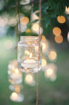 mason jar lights floating