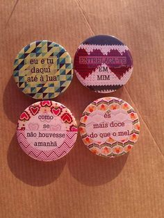Pins/Ímans Amor by Picabu on Etsy, $1.50