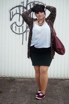 CONQUORE · The Fatshion Café | Fashion Plus Size Blog: Indian Gammler · stylish plus size camo cardigan