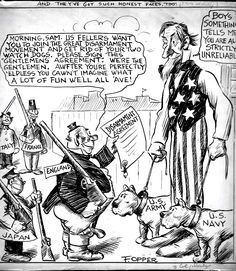 OPPER, FREDERICK - Uncle Sam cartoon, not trusting world powers 1920