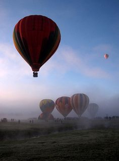 Foggy Adirondack Balloon Festival #vacationeer