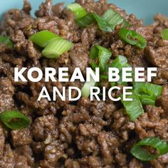Korean Beef and Rice is part of Korean food - A friend raved about Korean recipes for bulgogi—beef cooked in soy sauce and ginger—so I tried it It's delicious! Dazzle the table with this tasty version of Korean beef and rice —Betsy King, Duluth, Minnesota Korean Dishes, Korean Rice, Cooking Recipes, Healthy Recipes, Korean Food Recipes, Easy Beef Recipes, Chinese Beef Recipes, Easy Filipino Recipes, Minced Beef Recipes
