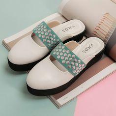 "Shoes for Women "" YUKI "" by V.N.D.S  Flatform Pastel"
