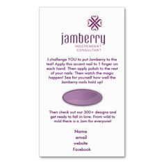 #Nails #Fashionista                                        Jamberry sample card business card template                   Perfect for your 7 day challenge samples