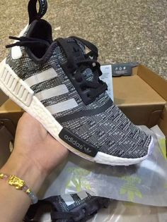 c0e63e9f3 Spring Summer 2018 Cheap Men Adidas NMD Boost Black Grey White Shoe