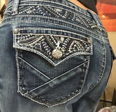9efdce84257 Details about Soundgirl Bootcut Embellished Yolk Bling Jeans Size 15 NWT S  34 X 32  64 NEW