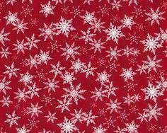 Patchworkstoff HOLIDAY SPARKLE mit Schneesternen, rot