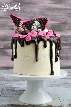 Haniela's: Walnut Sponge Vanilla Cake with Chocolate Diamonds