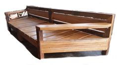 Huge custom made hardwood daybed - 3.8 metres long x 1.2 metres wide with a 2.4 metre opening