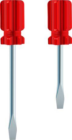 El destornillador, los destornilladores.  Los tornillos se sacan usando un destornillador