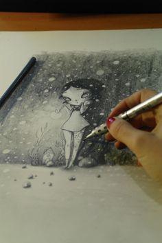 Graphite on paper Illustrations, Illustration Art, Got Characters, Art Girl, Pop Culture, Eye Candy, Art Photography, Doodles, Design Inspiration
