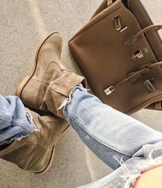 Isabel Marant Etoile Suede Crisi Boots Olive