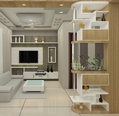 Dm for designs. Tv unit with aquarium partition Living Room Partition Design, Living Room Tv Unit Designs, Room Partition Designs, House Ceiling Design, Bedroom False Ceiling Design, Latest Tv Unit Designs, Tv Cupboard Design, Tv Unit Interior Design, Apartment Interior