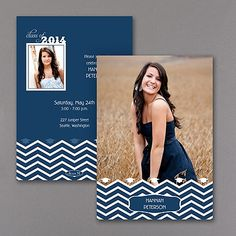 Grad Chevron - Photo Graduation Invitation Order here!  http://mysticsocial.carlsoncraft.com/Graduation/Invitations/3254-TWS34973-Grad-Chevron--Photo-Graduation-Invitation.pro