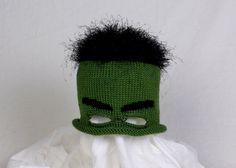 Custom Knit Incredible Hulk Hat with Eye Mask by AllStringsbyAmy, $23.00