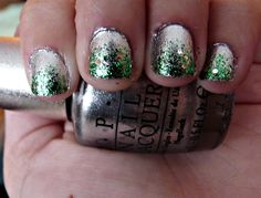 St. Patty's days nails <3  The muppets collection fresh frog of bel air with ds radiance by OPI.