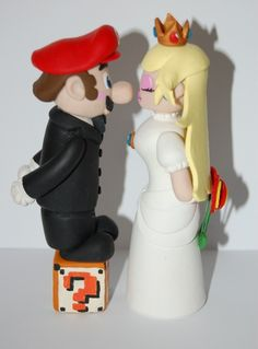 Mario Peach Wedding Cake Topper
