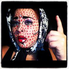 Roy Lichtenstein Comic book girl makeup