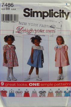 Simplicity 7486 Toddlers' Dress