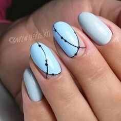 How to Give a Manicure Minimalist Nails, Nail Art Diy, Cool Nail Art, Nail Polish Designs, Nail Art Designs, Hair And Nails, My Nails, Nagellack Trends, Geometric Nail