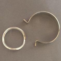 Gallery 925 - Hans Hansen Sterling Silver Ring Bracelet by Bent Gabrielsen. Handmade Sterling Silver.