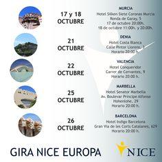 Comienza una nueva gira NICE este mes de octubre, celebra el 20 aniversario con nosotros, si aún no conoces la firma de Joyería Méxicana NICE esta es tu oportunidad, te esperamos en tu ciudad ¡¡No puedes faltar!! www.niceglobal.es #NICEeuropa #20NICE #PresentaciónNICE316 #GiraOtoñoNICE #JoyeríaMéxicana