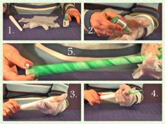 demonstrates how to jazz up your white taper candles. All you need are candles, a latex glove, and some hobby paint to t. Taper Candles, White Candles, Diy Candles, Latex, School, Painting, How To Make, Soaps, Painting Art