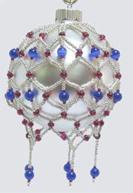 Some of the beaded ornaments on this page are way too crazy for me. I like simple.