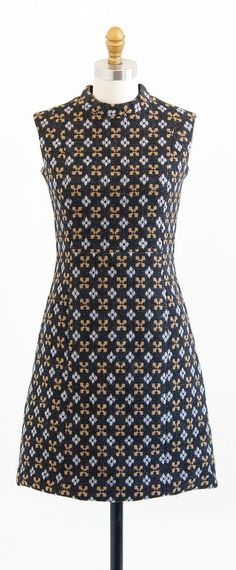 vintage 1960s mod argyle print wool shift dress | http://www.rococovintage.etsy.com