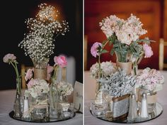 Matt Shumate Photography at Glover Mansion wedding flowers table centerpieces