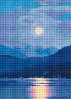 Cross Stitch | Moonlight xstitch Chart | Design