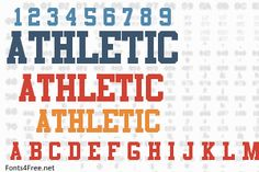 Athletic font is a fancy, old-school font designed by Edward A. Athletic font is available as a trial. A payment is required for commercial or personel usage. Old School Fonts, Commercial, Company Logo, Graphic Design, Logos, Logo