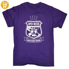 OPEN WATER Herren T-Shirt, Slogan Violett Violett - Shirts mit spruch (*Partner-Link)