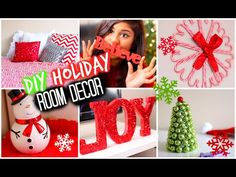 Roomspiration: 6 Easy DIY's + Decorating My Room for Christmas & Winter! | BeautyTakenI - YouTube