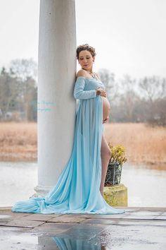 Hierba lombriguera vestido / maternidad vestido / vestido de