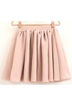 Candy Color Skater Skirt