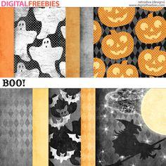 Scrapbooking TammyTags -- TT - Designer - Retrodiva Designs,  TT - Item - Paper, TT - Theme - Halloween