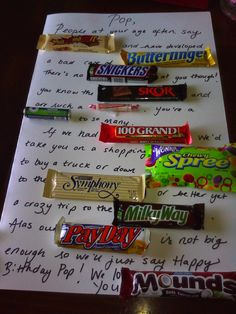 Candy Bar Poem. A thoughtful and easy gift.