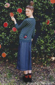 Moomin fashion: cardigan from Japanese Syrup - muumivaatteet neuletakki