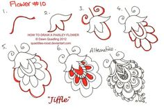 How to draw Paisley Flower 10 Jiffle by Quaddles-Roost.deviantart.com on @DeviantArt