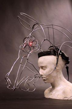 Theatre Costume 6 x aluminium horse head masks for Street theatre 'Equus' production - November 2013 Artist: Duncan Cameron