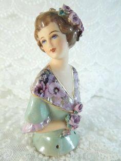 Porcelain Half Doll - Pincushion - Nicholina