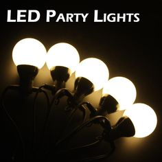Outdoor Led Party Lights: Warm White Festoon Party Lights 40m £131. Led Party LightsOutdoor ...,Lighting