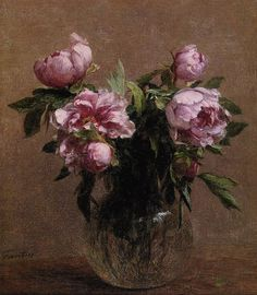 Vase of Peonies, 1902 Fantin-Latour, Ignace-Henri- Theodore Painting Reproductions