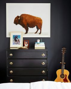 buffalo print from Animal Print Shop | Our Brooklyn Apartment | A Cup of Jo