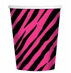 Pink & Black Zebra Party Cups Pink Zebra Birthday, Pink Zebra Party, Animal Birthday, 40th Birthday, Birthday Ideas, Birthday Stuff, Bachelorette Party Supplies, Bachelorette Party Decorations, Diva Party