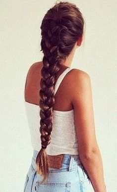Hair Idea maybe with extensions for thickness (or colored ones?) and spray clay to make sure it holds - Looking for Hair Extensions to refresh your hair look instantly? focus on offering premium quality remy clip in hair. Love Hair, Gorgeous Hair, Pretty Hairstyles, Braided Hairstyles, Long Braids, Dream Hair, Hair Looks, Hair Inspiration, Curly Hair Styles