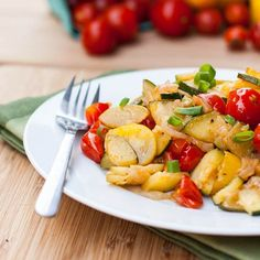 Sauteed zucchini with cherry tomatoes, garlic and onions makes for a simple veggie packed vegan summer side dish. Embrace the flavors of fresh vegetables! I'm so glad it's finally Friday. After 5 days of being cooped up in an office, chained to my chair with eyes glued to the computer screen for hours on end …