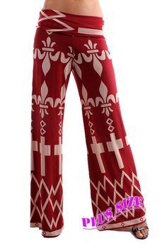 Online Clothing Boutique | Kelly Brett Boutique - Plus Size Palazzo Pants Orleans Burgundy, $32.00 (http://www.kellybrettboutique.com/plus-size-palazzo-pants-orleans-burgundy/)