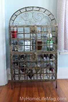 || shabby chic home design vintage wine rack || @LBDujour